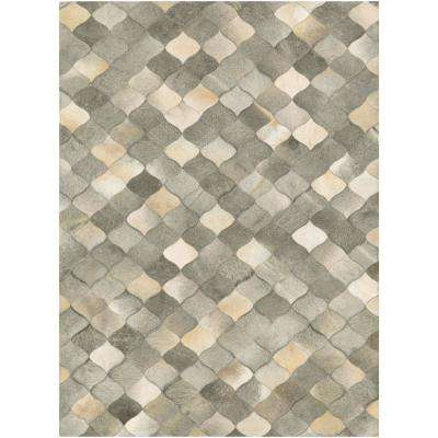 Chalet Diamonds Ivory-Grey 6 ft. x 8 ft. Area Rug