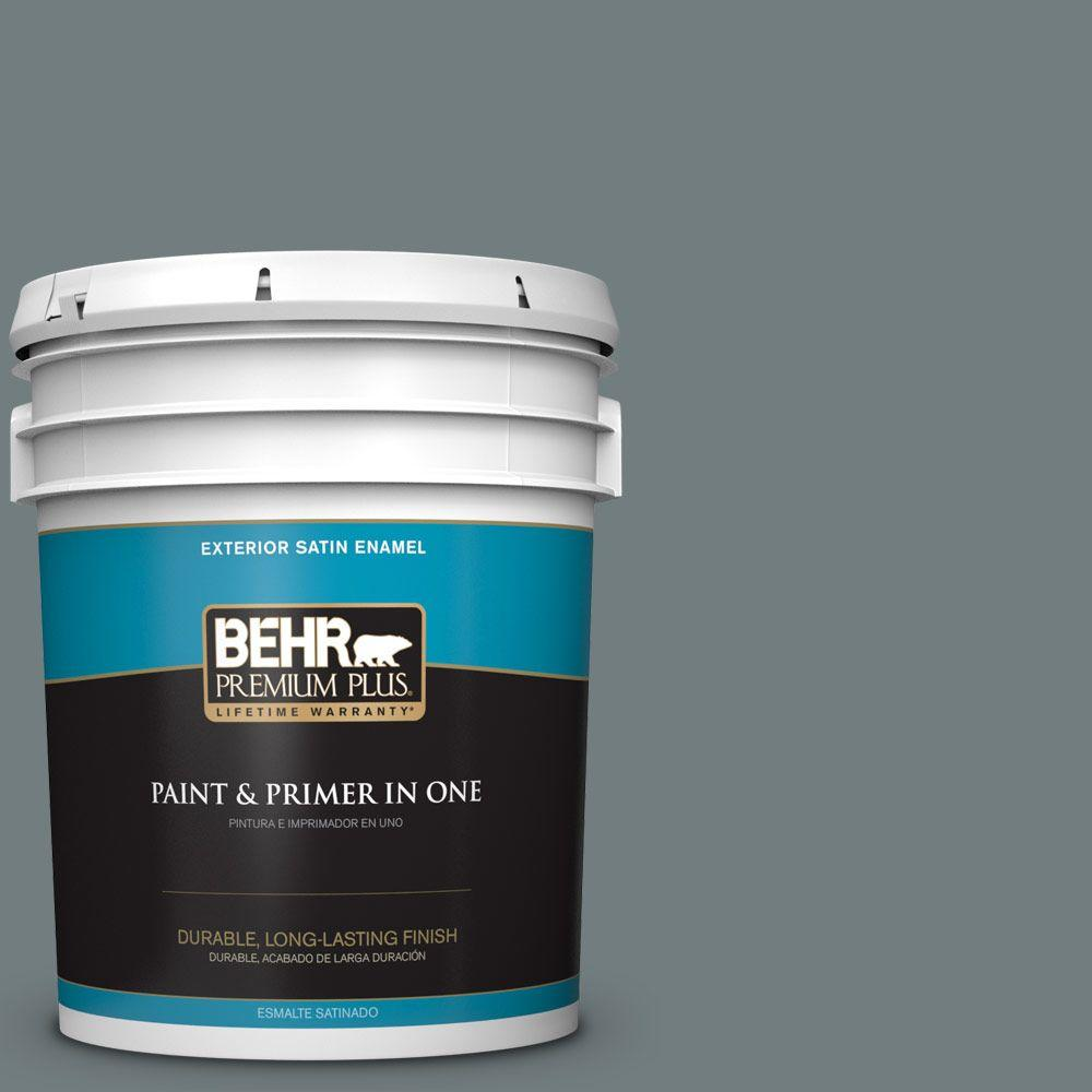 BEHR Premium Plus 5-gal. #720F-5 Hidden Peak Satin Enamel Exterior Paint