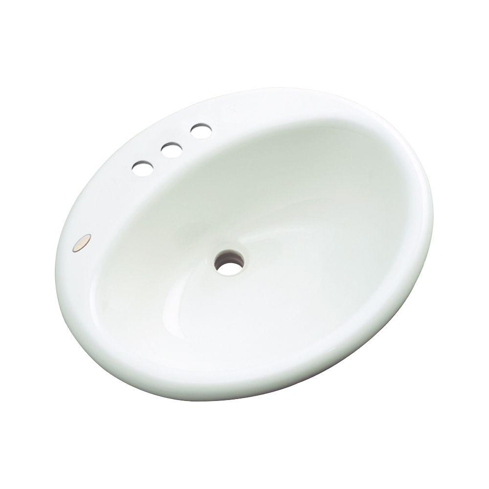 Bayfield Drop-In Bathroom Sink in White