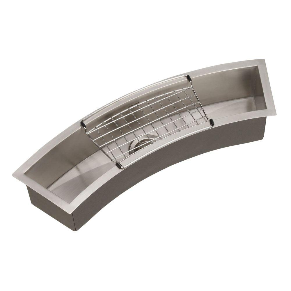 Contempo Series Undermount Stainless Steel 33 in. Single Bowl Bar/Prep Sink