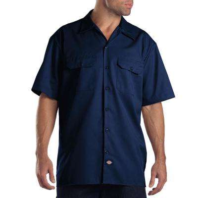 Men's X-Large Dark Navy Short Sleeve Work Shirt