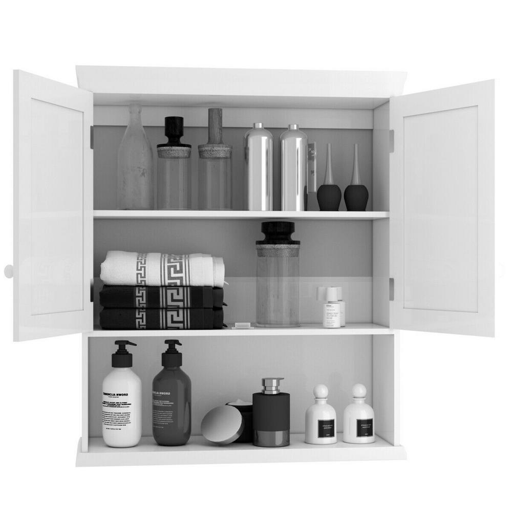 Single Door Wall Mount Bathroom Storage Cabinet Kitchen Cupboard Organizer Black