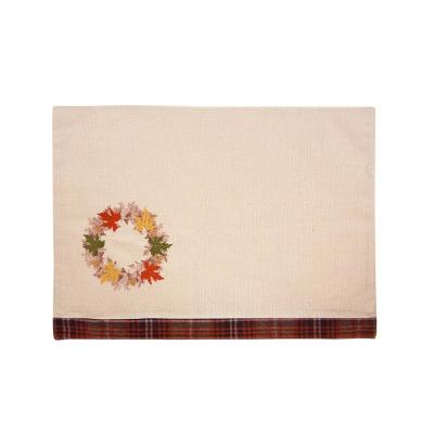 0.2 in. x 13 in. x 18 in. Maple Wreath Fall Placemats (4-Set)