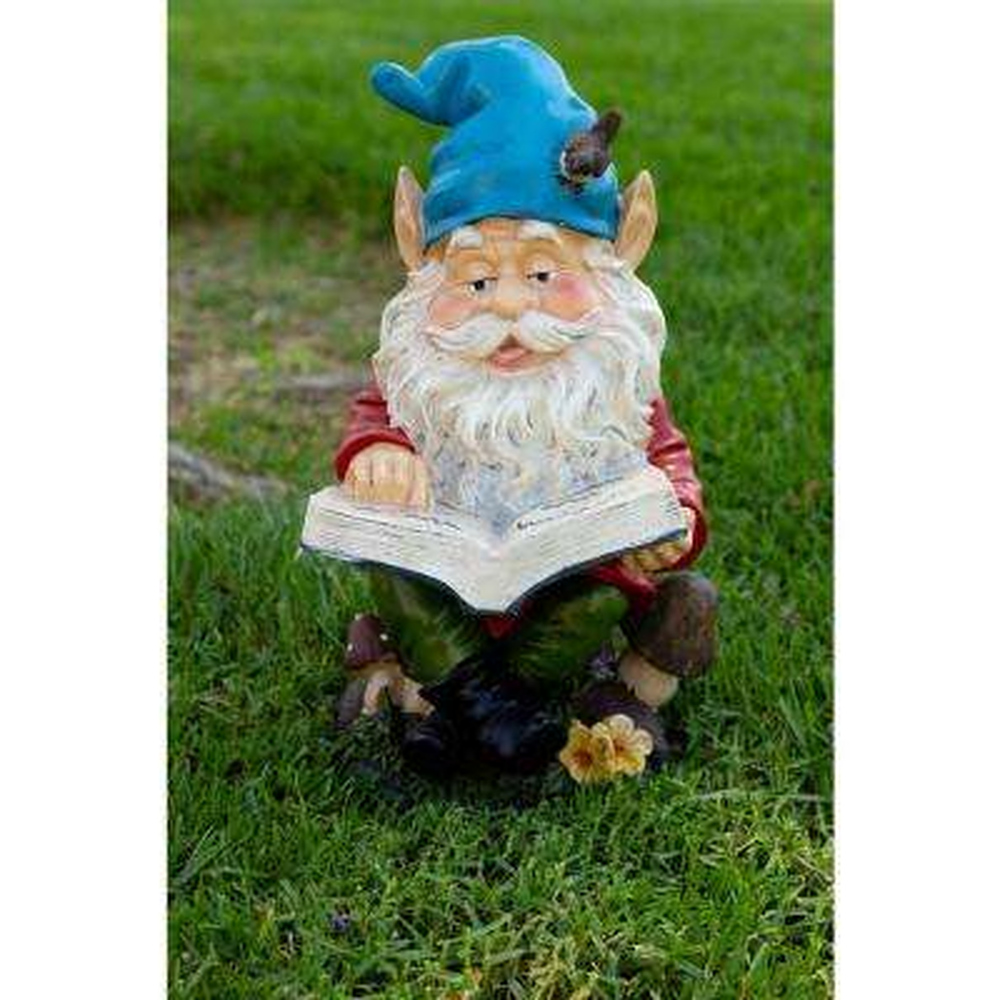 Gnome Reading Book Statuary