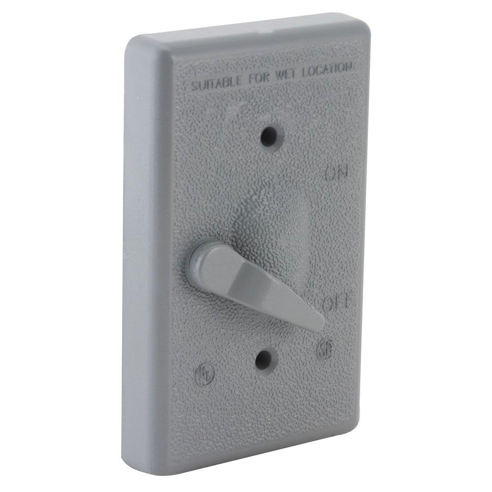 1 Gang Weatherproof Toggle Switch Cover Kit