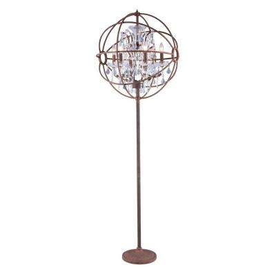 Geneva 71.5 in. Rustic Intent Floor Lamp with Clear Crystal