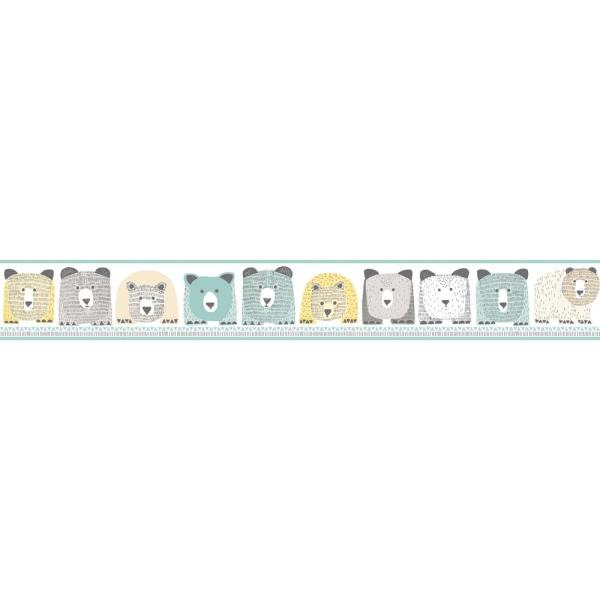 York Wallcoverings DwellStudio Baby and Kids Bears Wallpaper Border DW2420BD