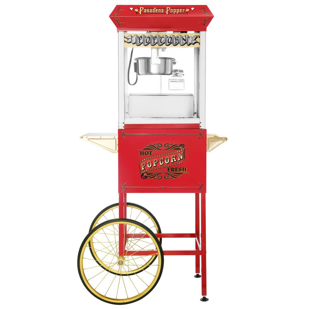 Great Northern Great Northern Pasadena 8 oz. Antique Red Popcorn Machine with Cart