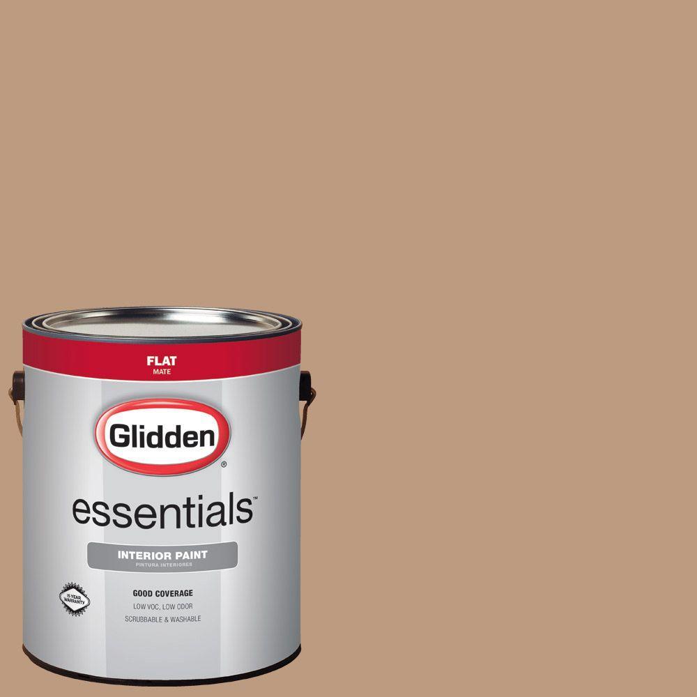 Glidden Essentials 1 Gal Hdgo38 Brownington Court Flat Interior Paint Hdgo38e 01fn The Home Depot