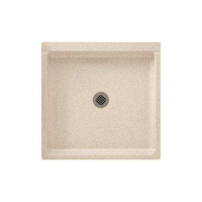 32 in. x 32 in. Solid Surface Single Threshold Shower Pan in Bermuda Sand