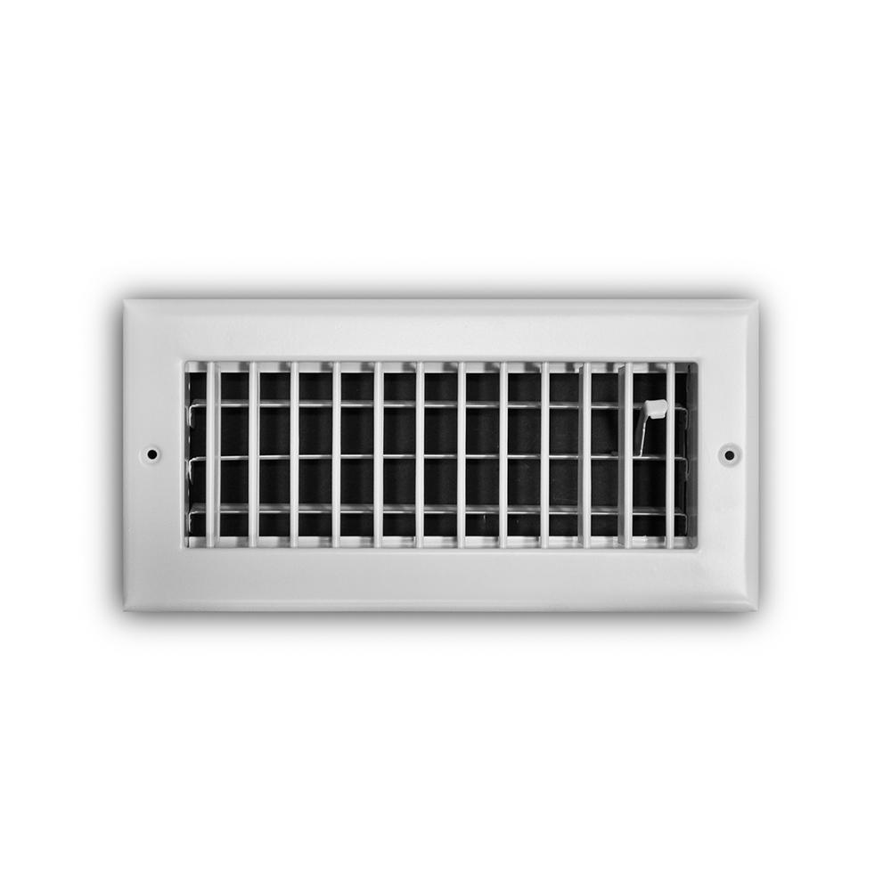 Everbilt 10 in  x 4 in  Adjustable 1-Way Wall/Ceiling Register