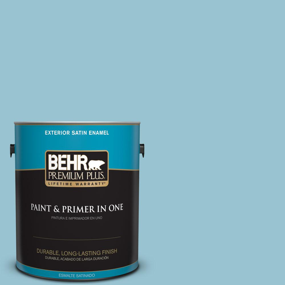1-gal. #520E-3 Velvet Morning Satin Enamel Exterior Paint