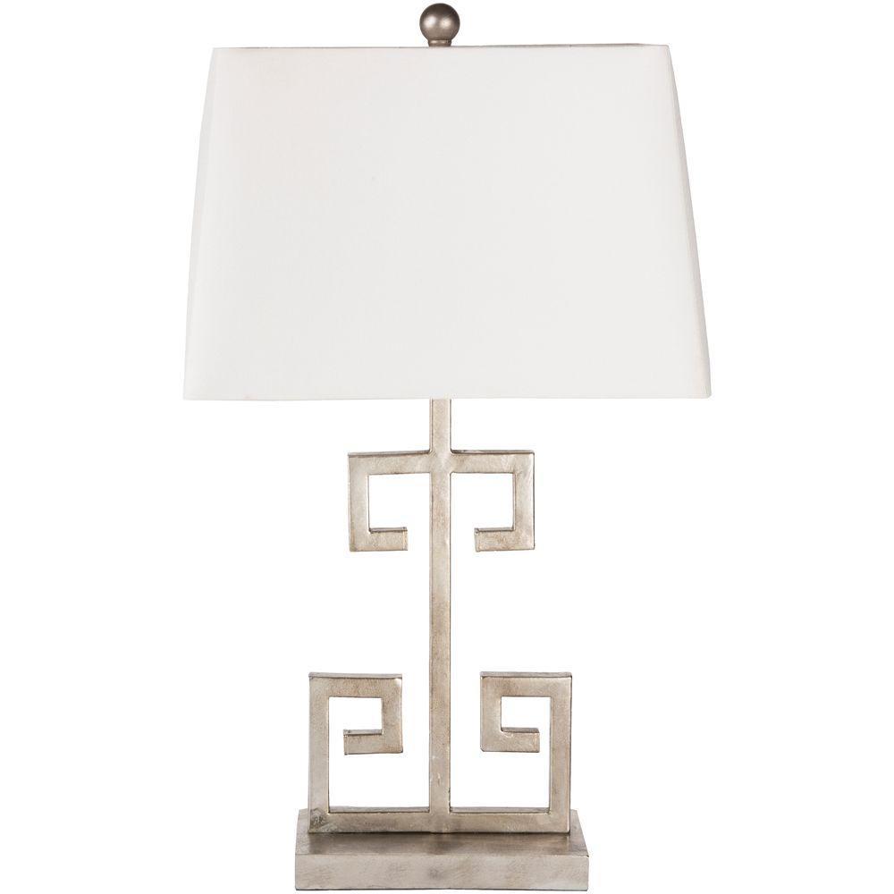 Merida 26 in. Antiqued Silvertone Indoor Table Lamp