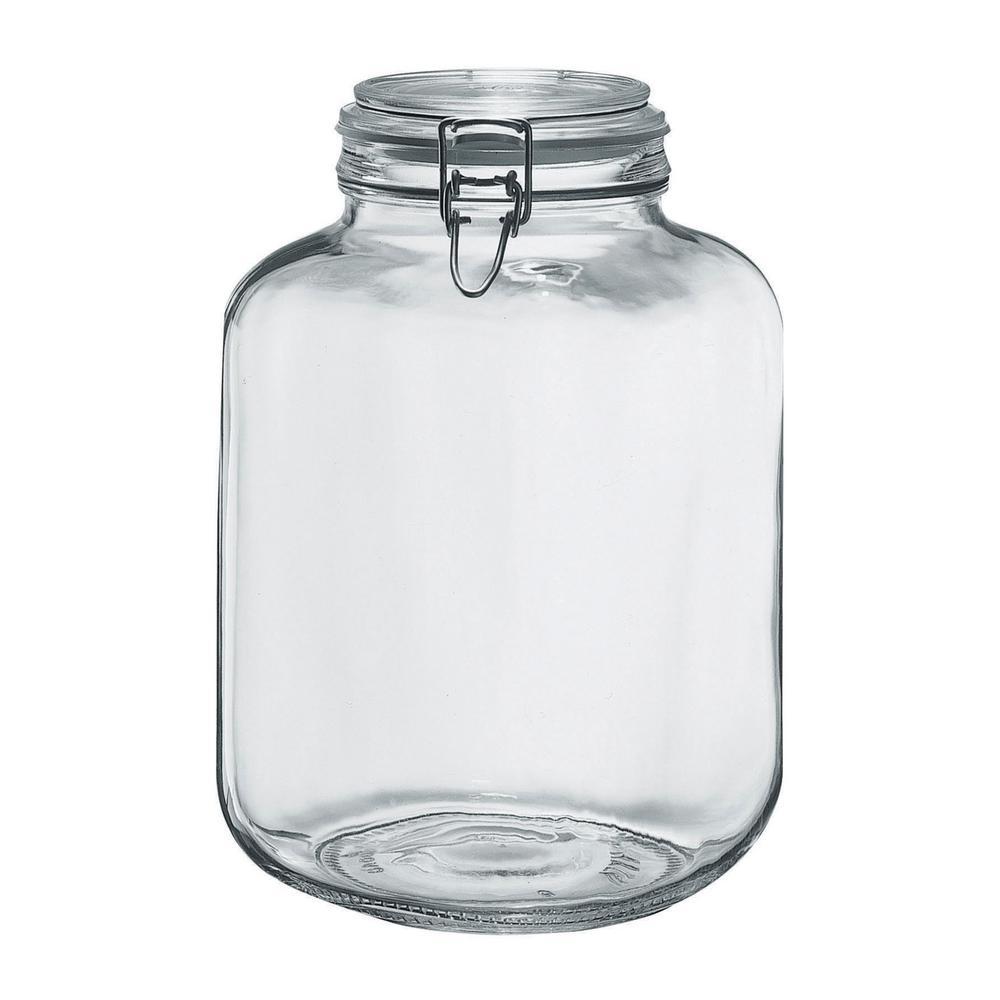 Borgonovo 145 oz. 2-Piece Glass Hermetic Canning Jar Set with Metal Lids