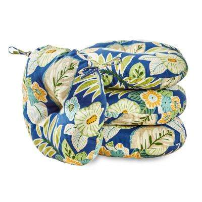 Marlow Floral 15 in. Round Outdoor Seat Cushion (4-Pack)