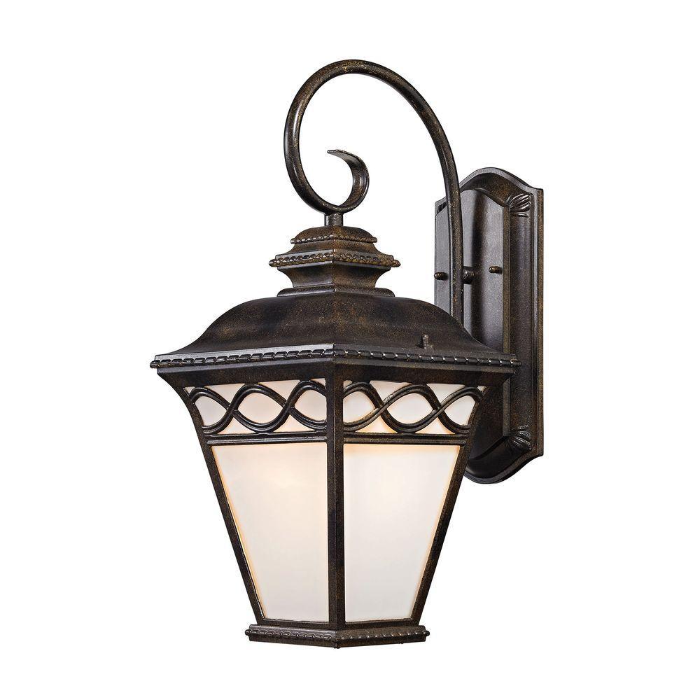 Titan Lighting Mendham 1 Light Hazelnut Bronze Coach