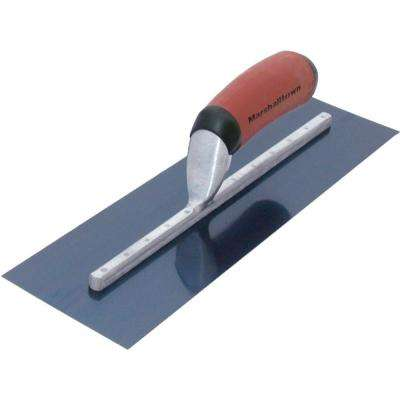 24 in. x 4 in. Blue Steel Finishing Curved Durasoft Handle Trowel