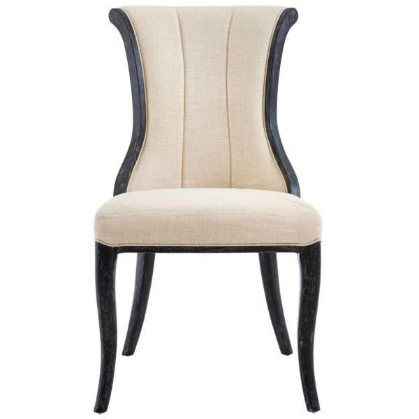Home Decorators Collection Jacques Natural Linen Flared Back Side Chair in