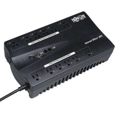 900VA 480 Watt UPS Desktop Battery Back Up Compact 120-Volt USB RJ11 PC