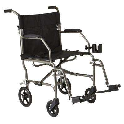 Freedom Transport Wheelchair in Silver
