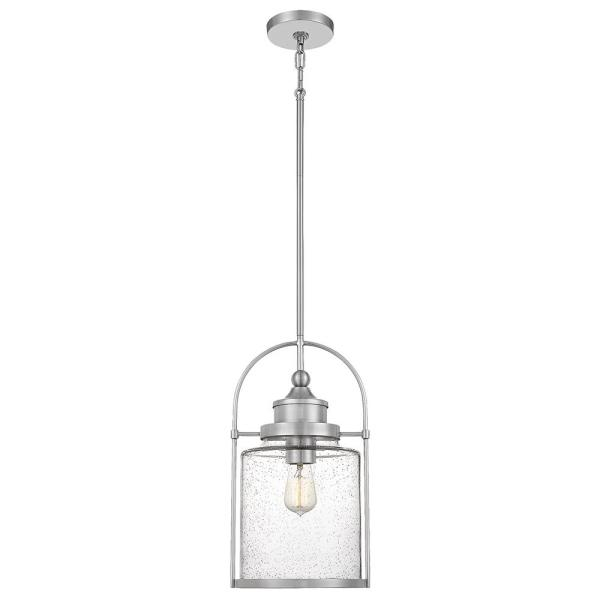 Payson 9.75 in. 1-Light Brushed Nickel Mini Pendant