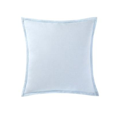 Chambray Coast Aqua Euro Pillow Cover