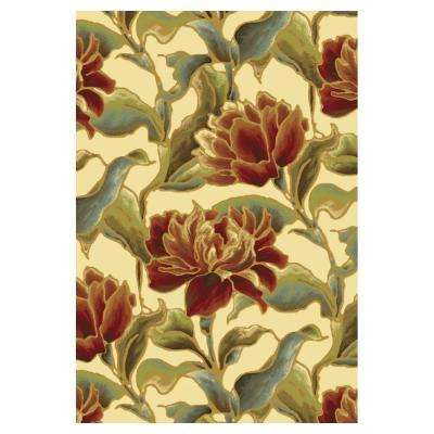 Spacious Florals Ivory 8 ft. x 11 ft. Area Rug