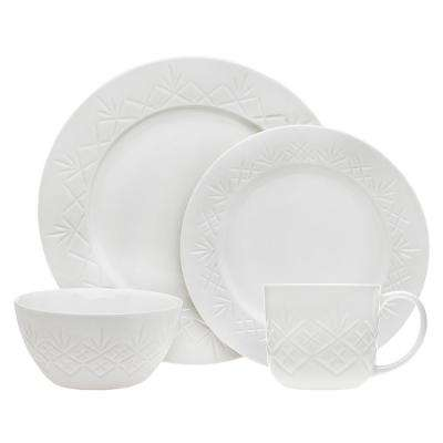 16-Piece Dublin White Dinner Set