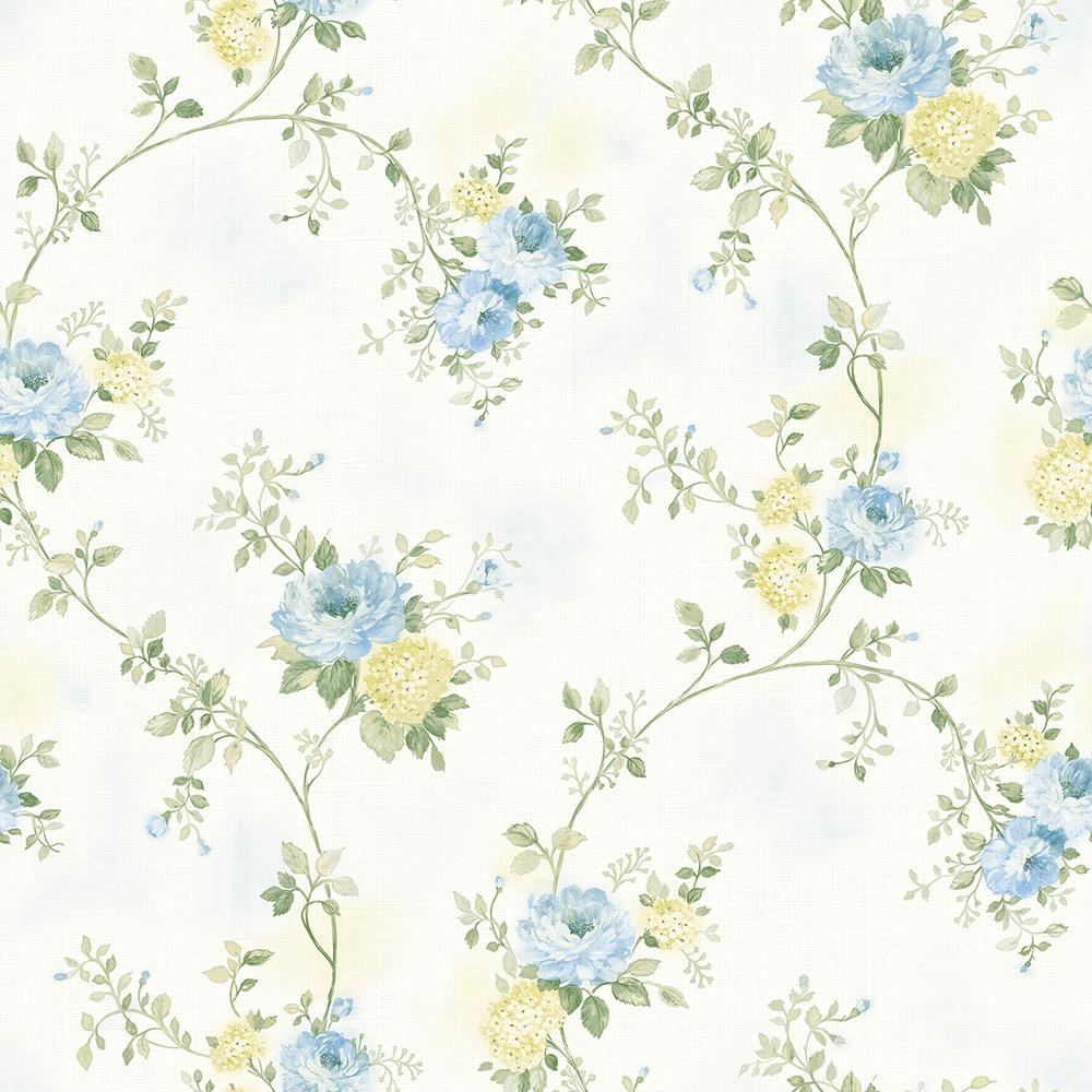 Chesapeake 56 4 Sq Ft Mimosa Blue Trail Wallpaper 3117 79106