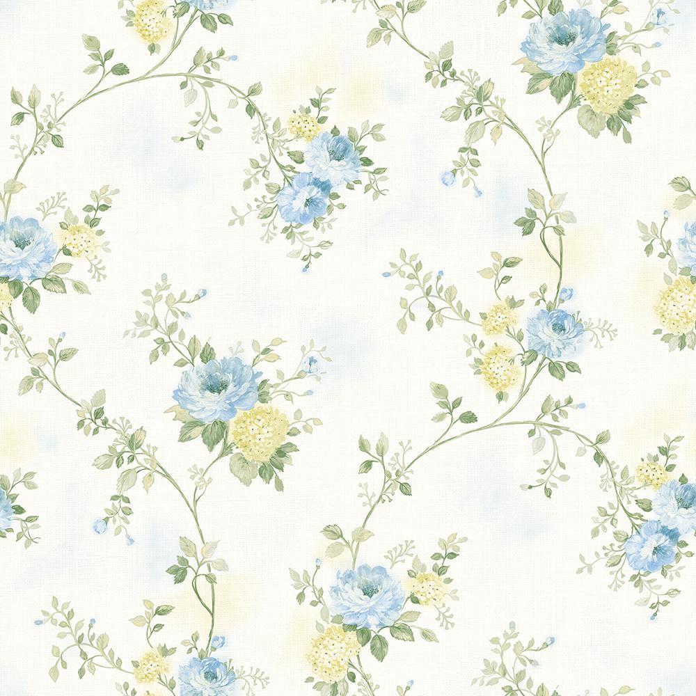 Chesapeake 56 4 Sq Ft Mimosa Blue Trail Wallpaper 3117 79106