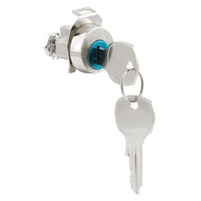 1 in. Dia Face, Mailbox Lock, No Cams, Diecast Construction, Nickle Plated Finish, Auth-Florence, Opens Clockwise, 90