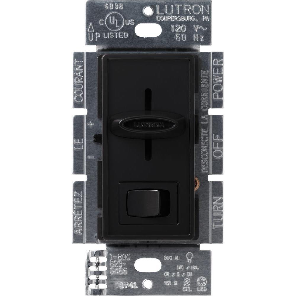 Skylark 150-Watt Single-Pole/3-Way CFL-LED Dimmer - Black