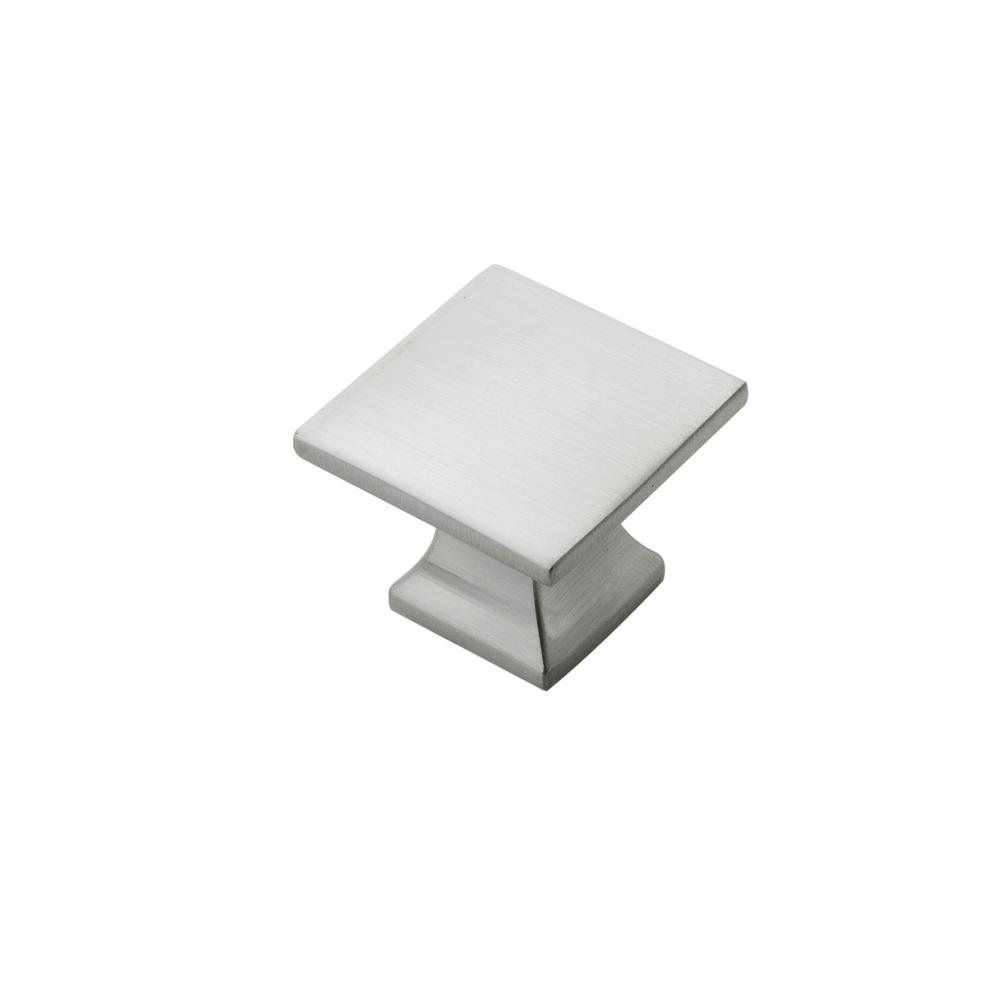 1-1/4 in. SQ Studio Collection Satin Nickel Cabinet Knob