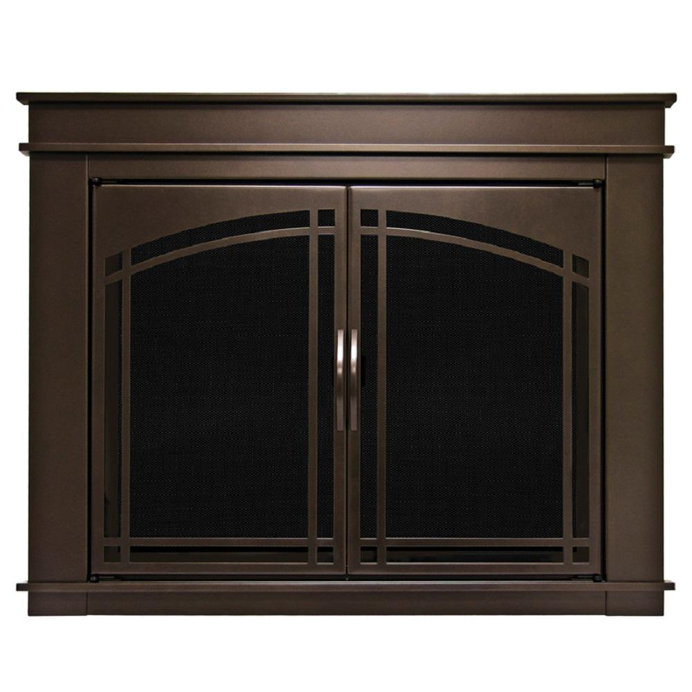 Pleasant Hearth Fenwick Small Glass Fireplace Doors