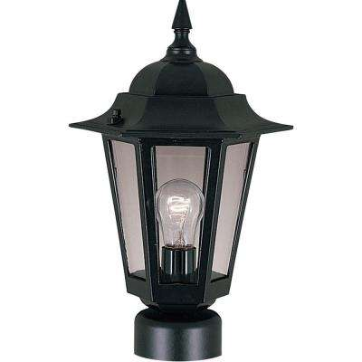 Builder Cast 1-Light Black Outdoor Pole/Post Mount