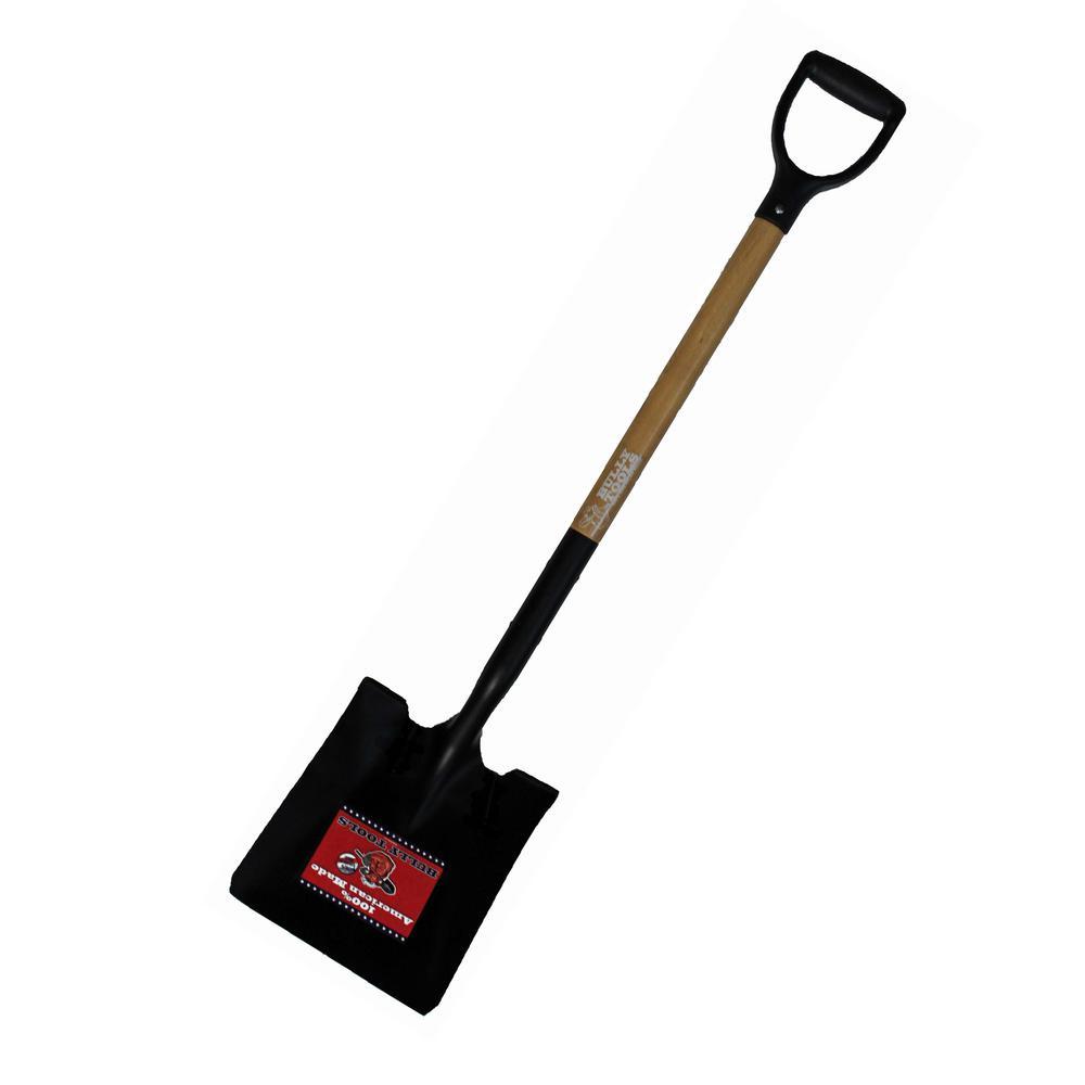 14-Gauge Square Point Shovel with American Ash D-Grip Handle