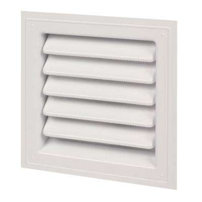 12 in. x 12 in. Plastic Wall Louver Static Vent in White