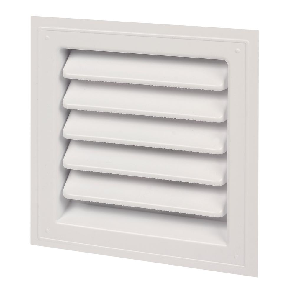 Master Flow 12 In X 12 In Plastic Wall Louver Static Vent In White Sl12x12 The Home Depot