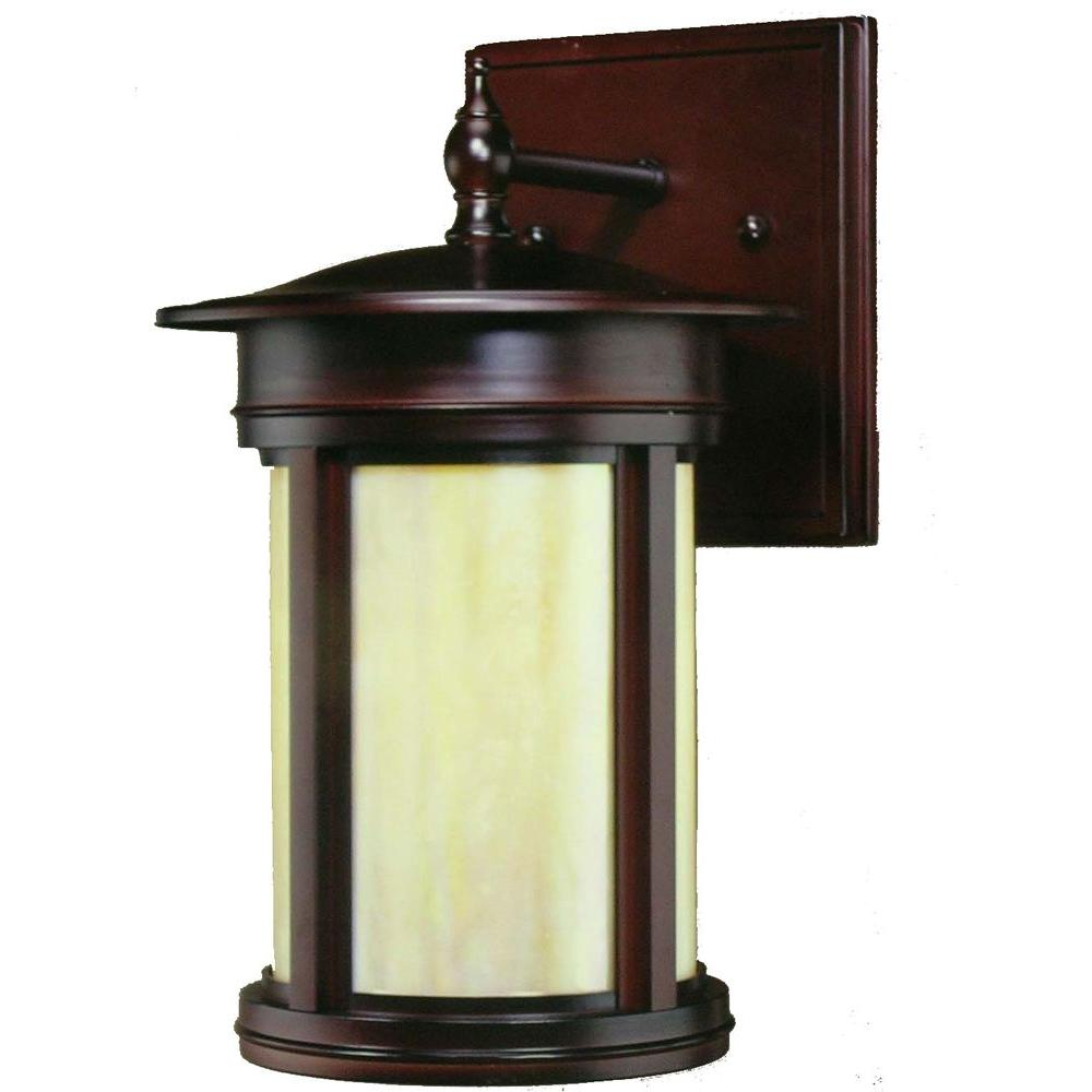 Hampton Bay Craftsmen Oil Rubbed Bronze Outdoor Wall-Mount Lantern