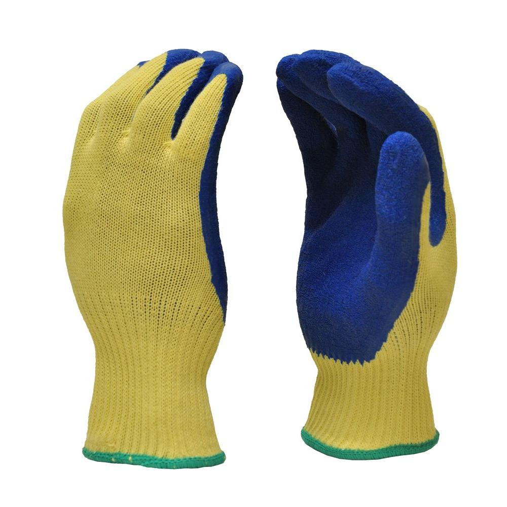 G & F Products Cut Resistant 100% Kevlar Heavy Weight Textured Latex Coated Large Gloves (1-Pair)