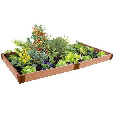 One Inch Series 4 ft. x 8 ft. x 5.5 in. Classic Sienna Composite Raised Garden Bed Kit