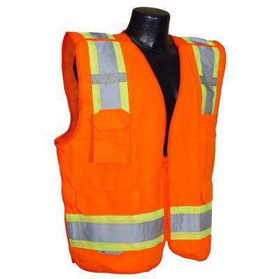Cl 2 Two-tone Orange 5x Breakaway Safety Vest