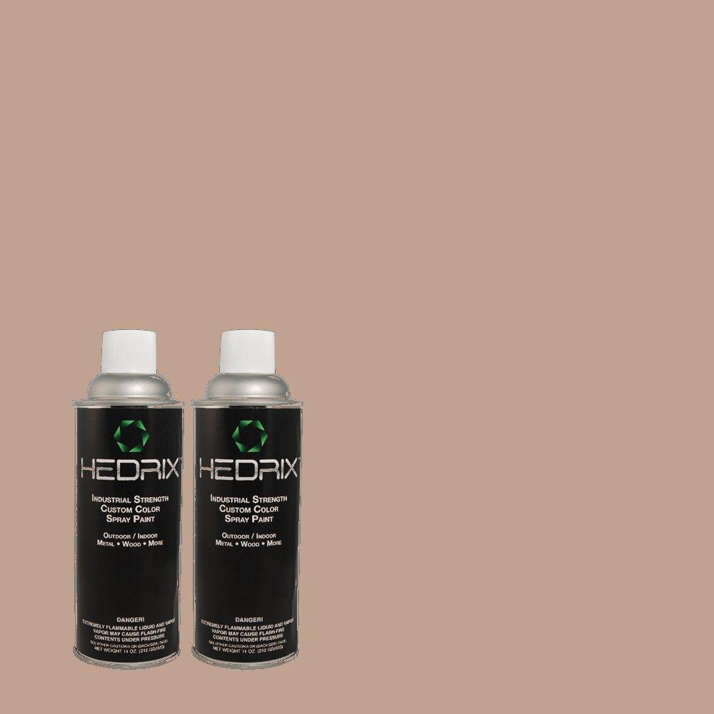 Hedrix 11 oz. Match of 3A28-4 Burma Beige Semi-Gloss Custom Spray Paint (2-Pack)