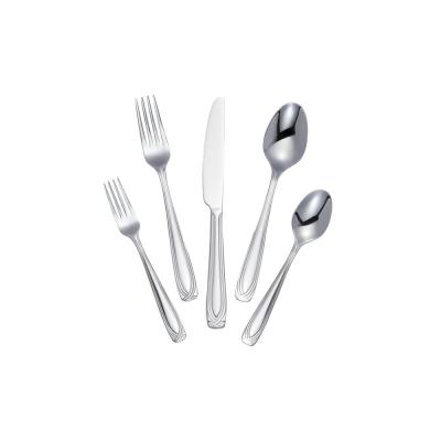 Lora 20-Piece Stainless Steel Flatware Set (Service for 4)
