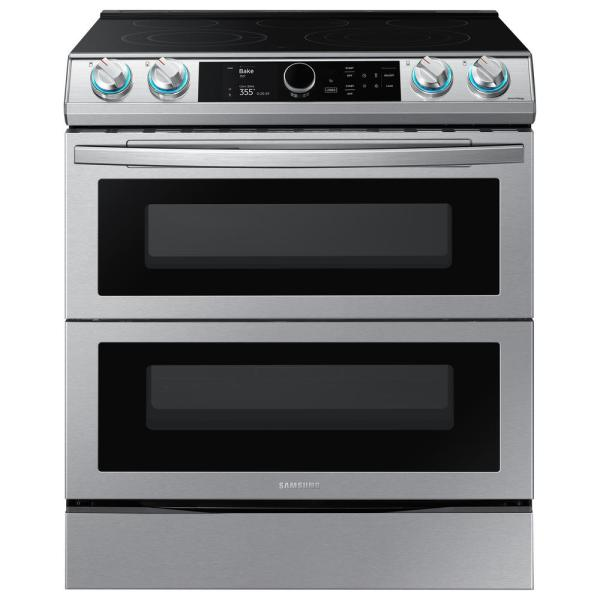 30 in. 6.3 cu. ft. Flex Duo Slide-In Electric Range with Smart Dial and Air Fry in Fingerprint Resistant Stainless Steel