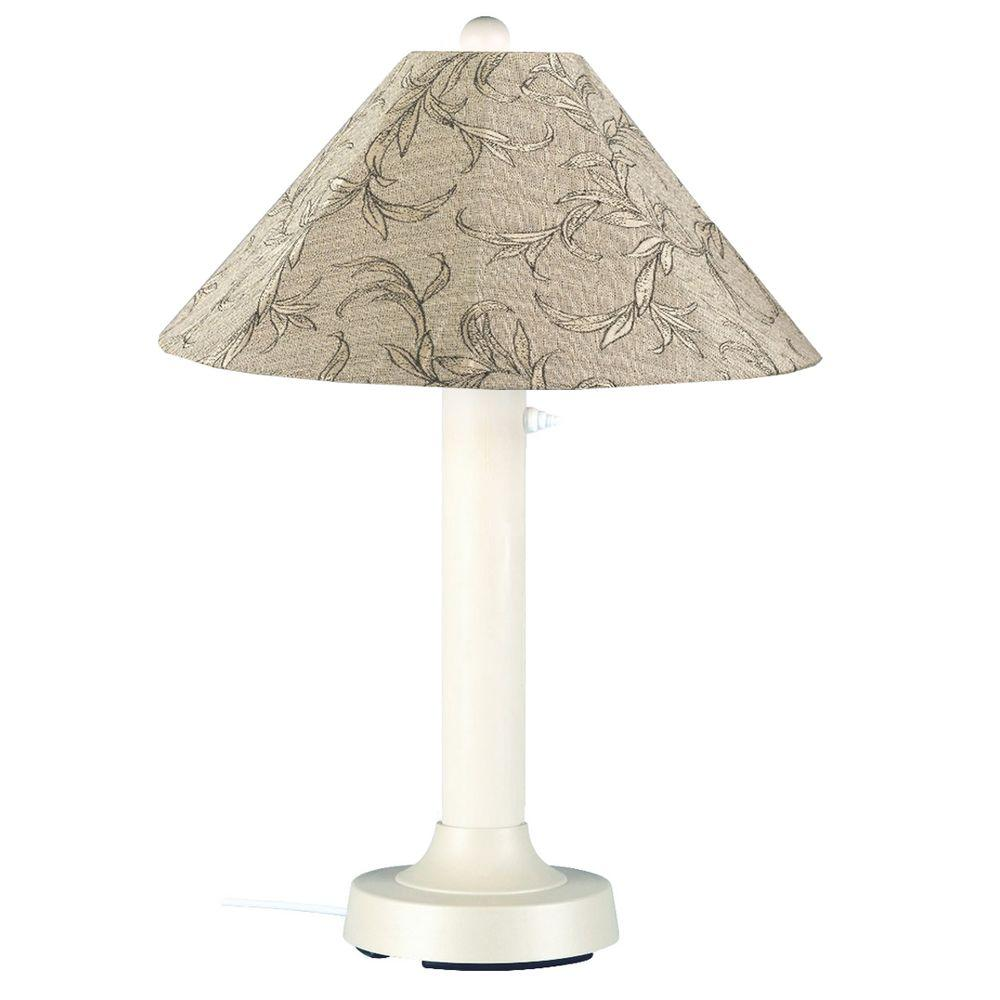 Patio Living Concepts Seaside 34 in. Outdoor White Table Lamp with ...