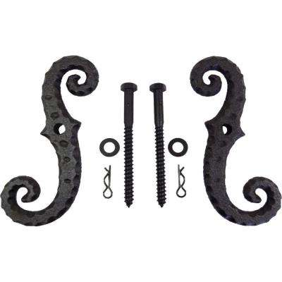 Coated Cast Iron Shutter Tieback 2 Piece