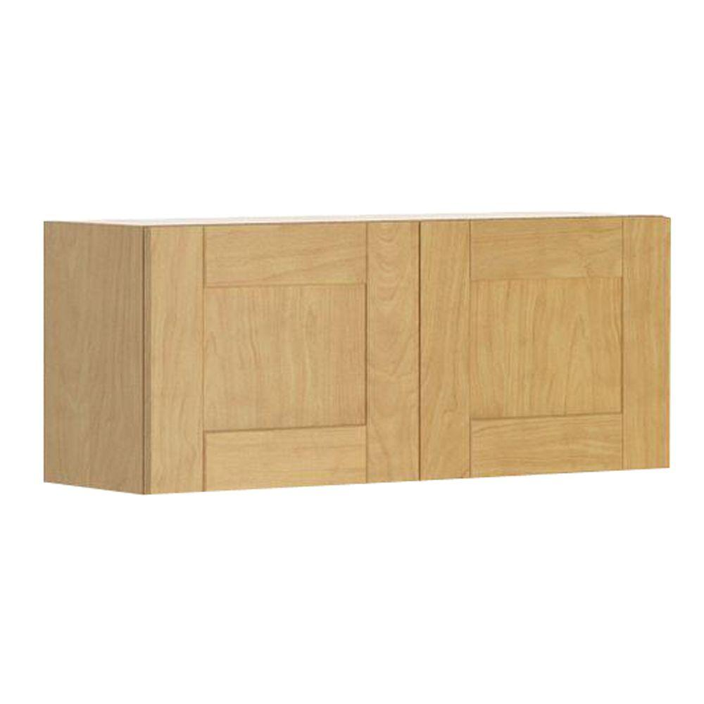 Ready to Assemble 36x15x12.5 in. Milano Wall Bridge Cabinet in Maple