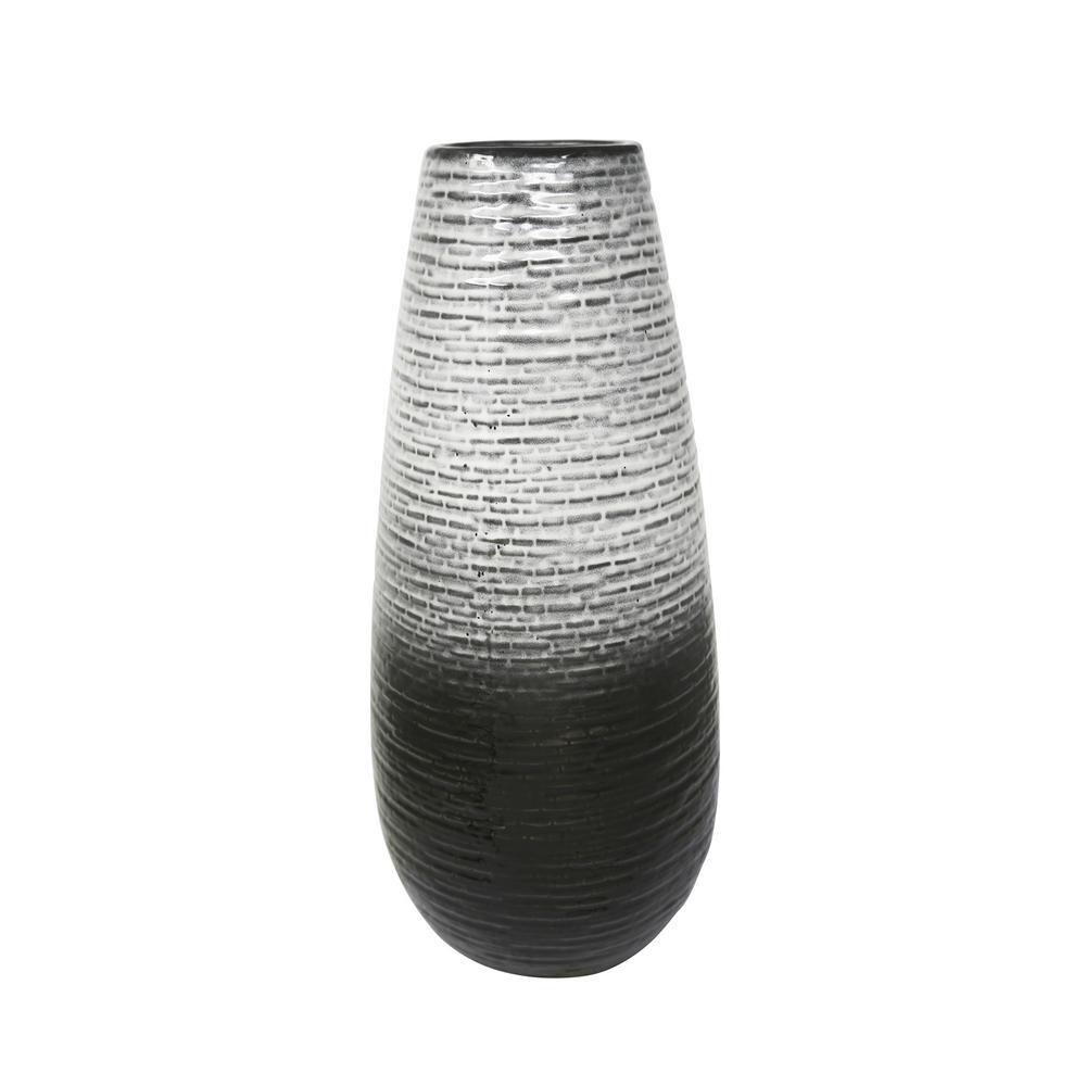 Sagebrook Home 19.5 in. Gray Ceramic Vase 13904-01