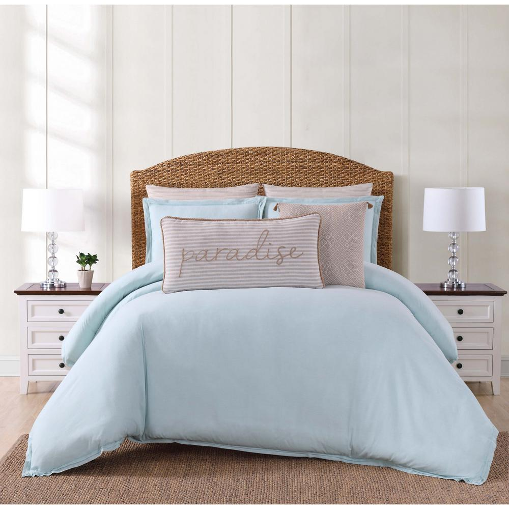 Chambray Coast Aqua (Blue) King Duvet Set